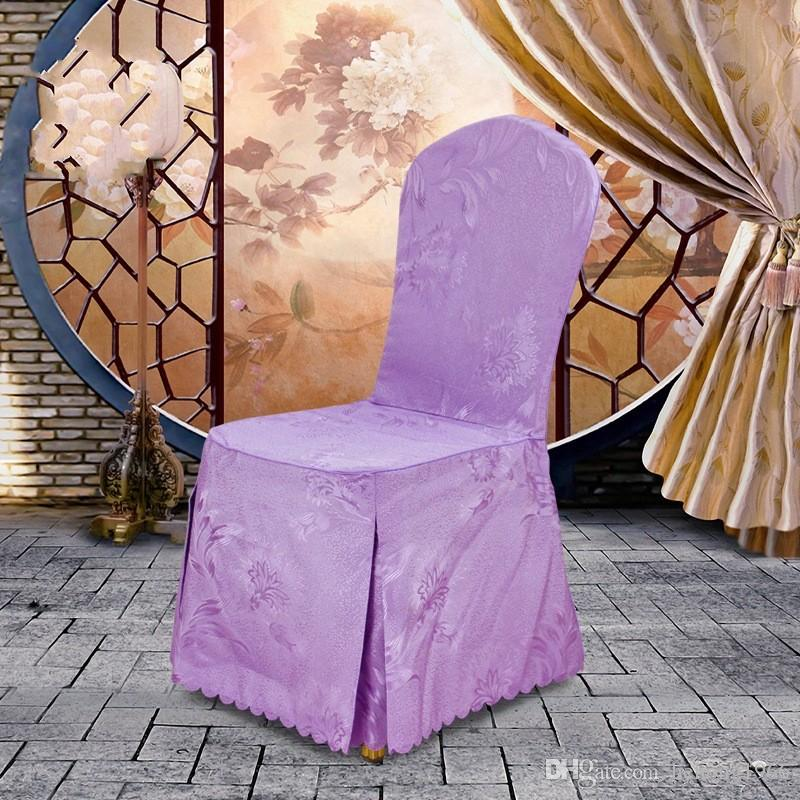 Seat Cover Hotel Polyester Fiber Phoenix Flower Table Chair Meeting Exhibition Stool Set Wedding Banquet 18wt V