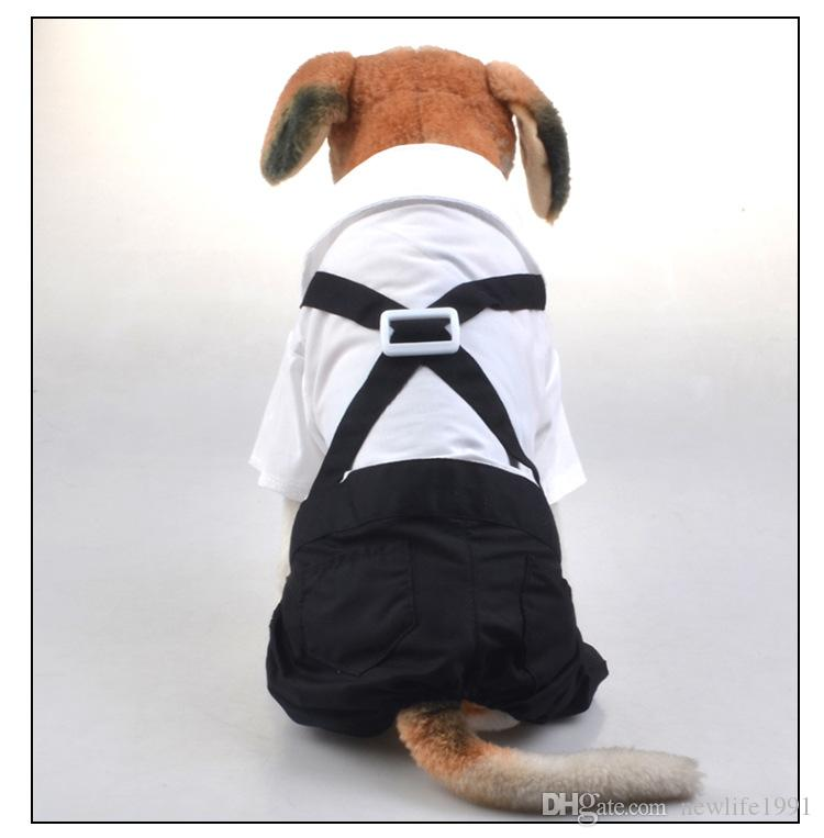 Vestiti del cucciolo del cane di usura del vestito di usura del partito del vestito di cerimonia nuziale del vestito dell'animale domestico bello Vestiti animali domestici Vestito libero dalle panty delle quattro gambe