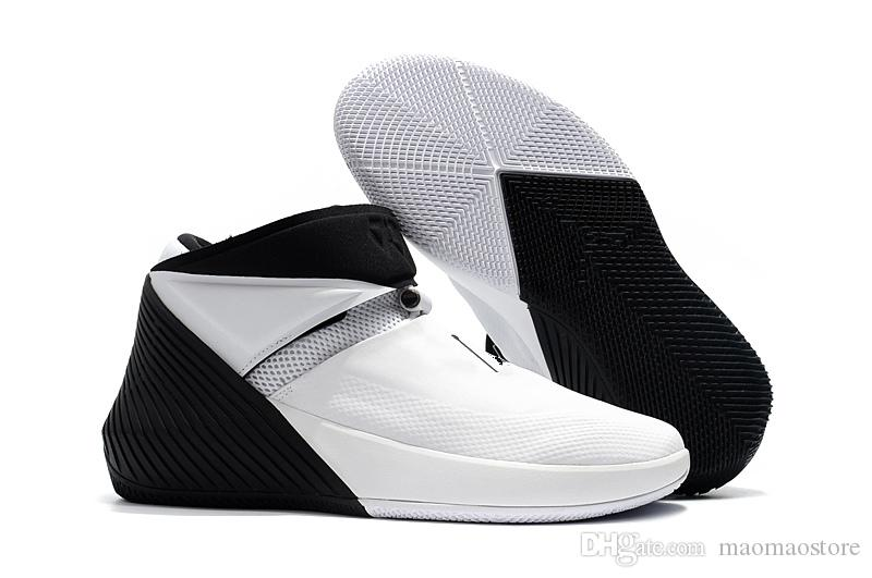newest 11b45 ff970 Compre Jordan Why Not Zer0.1 2018 Nueva Llegada Russell Westbrook WHY NOT  ZERO One 1 Zapatos De Baloncesto Masculino Para Blanco Negro Graffiti 1s  Atletismo ...