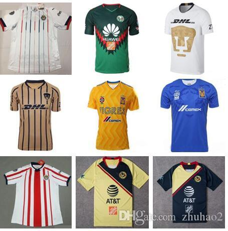 07853770738 2019 TOP Quality 2018 2019 LIGA MX Club America CHIVAS Guadalajara UNAM  TIGRES Soccer Jerseys 18 19 Football Kit Shirts Camisetas De Futbol From  Zhuhao2, ...