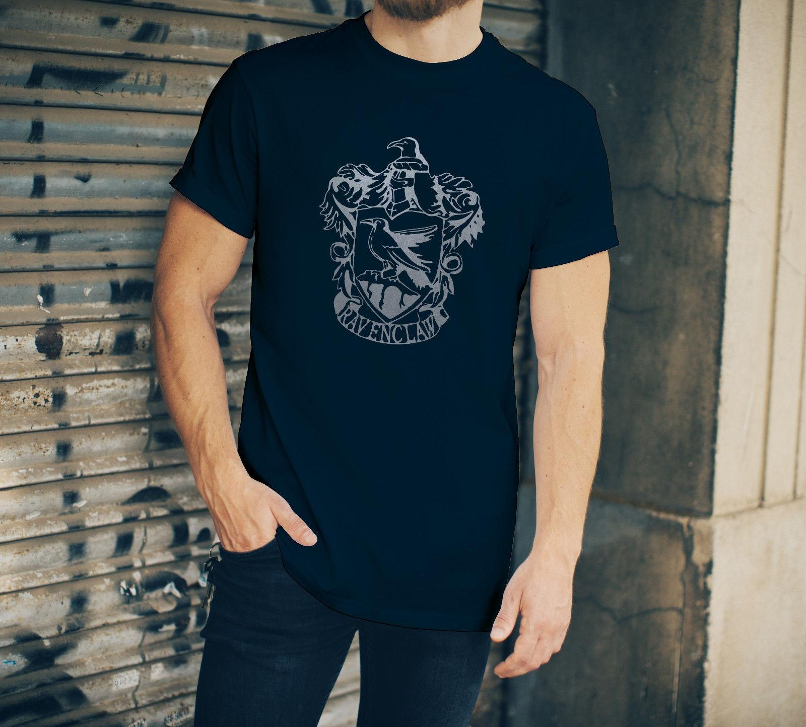 a3704646b56b Harry Potter Ravenclaw Mens T Shirt Navy Blue With Silver Crest Funny  Unisex Casual Designer T Shirts Short Sleeve Shirts From Fantees, $12.96|  DHgate.Com
