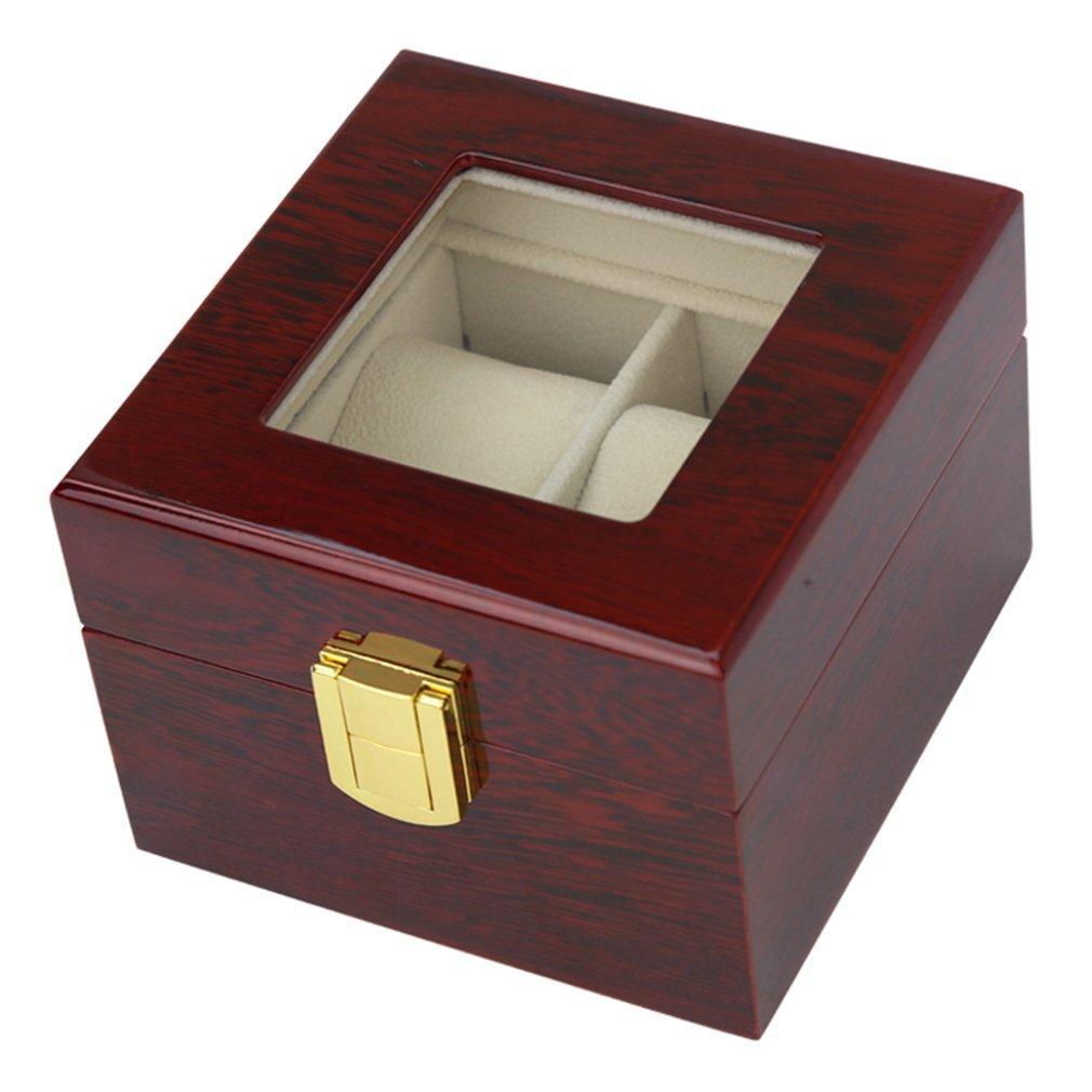 Schwarz Holz Halter Schmuck Lagerung Luxus Uhrengehäuse Display Grids Armband Solid Organizer Fall 21012 Uhrenbox Rot Uhren exoBdCrW