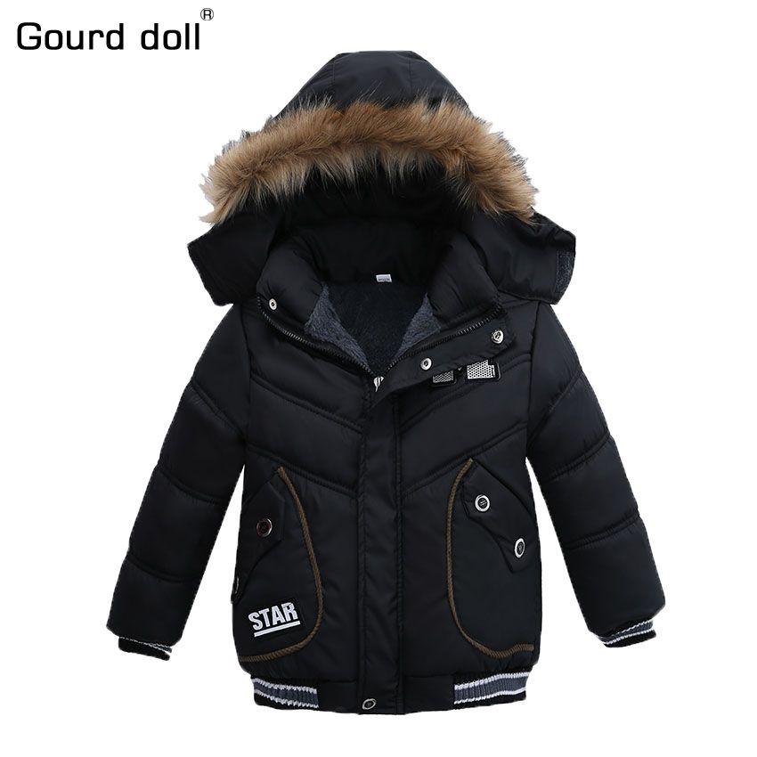 589b03794 2 5T Fashion 2017 Winter Jacket For Boys Parkas Children Outerwear ...