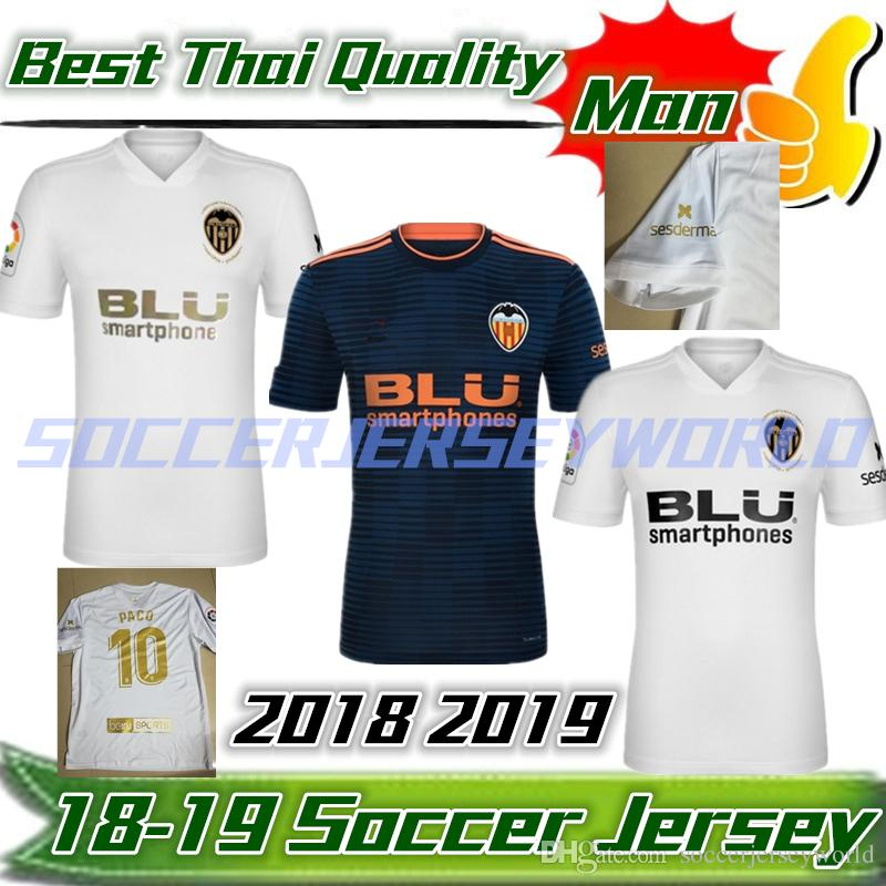 b617df50a New 2019 Valencia Soccer Jersey Camiseta 1ª 2ª Equipación Del ...