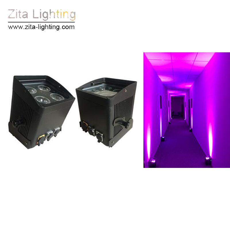 4 Unids / lote Zita Lighting LED Batería Portátil Luces Par Etapa Inalámbrica Luz Lavado de Pared Alquiler Impermeable IP65 Par Can Wedding DJ Disco Party