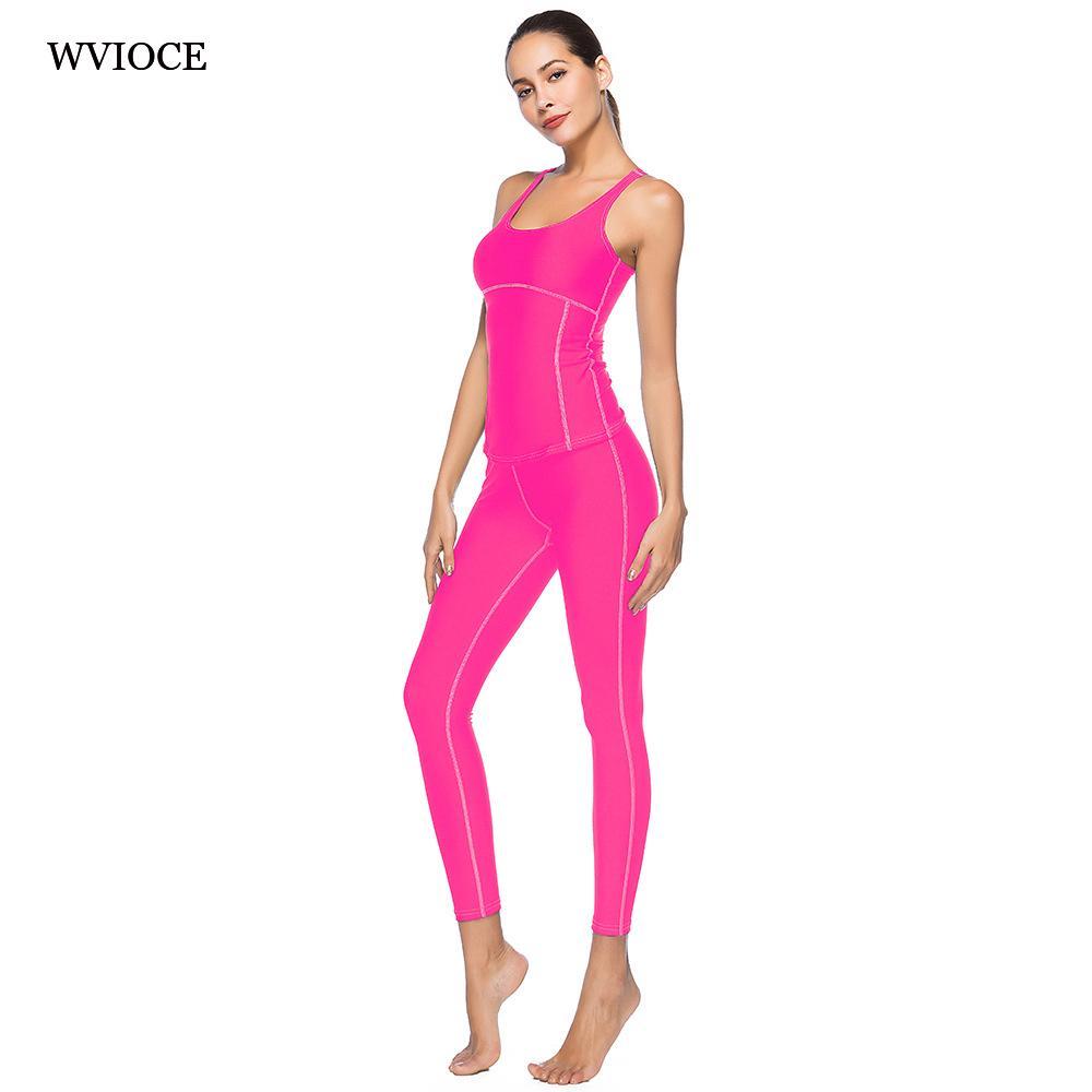 Acquista Donna Yoga Set Tuta Sportiva Tights Sportswear Yoga Fitness Tuta Da  Ginnastica Femminile Abbigliamento Sexy Tuta Intera In Due Pezzi S XXL A   27.87 ... 97de2880b3d