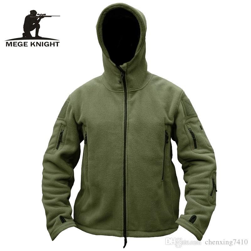 Compre MEGE Marca Hombres Ropa Militar Chaqueta De Lana Táctica Abrigo  Casual 81fd25c92e3