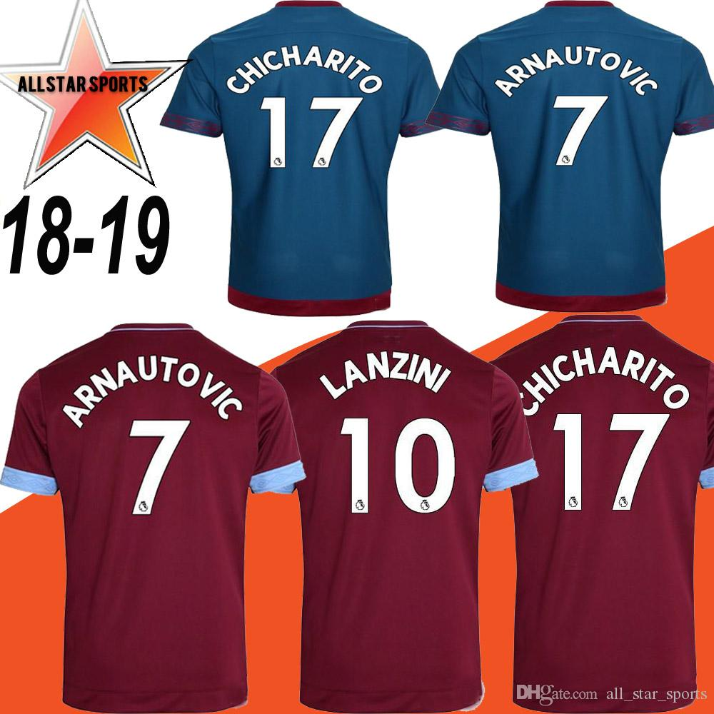 ec8c01b82e1 ... 19 away shirt 28d6e f4091; where can i buy 2018 2018 2019 west ham  united football jersey arnautovic lanzini snodgrass noble