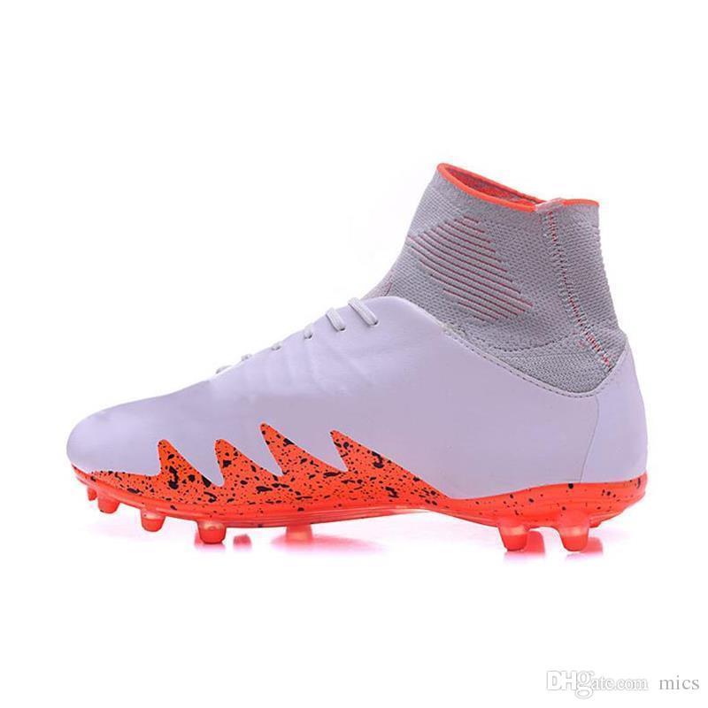 new product 461fd 57d27 2017 Neymar JR Soccer Cleats Hypervenom Phantom II Mercurial Superfly FG  White Red CR7 Soccer Shoes FG High Ankle Football Boots