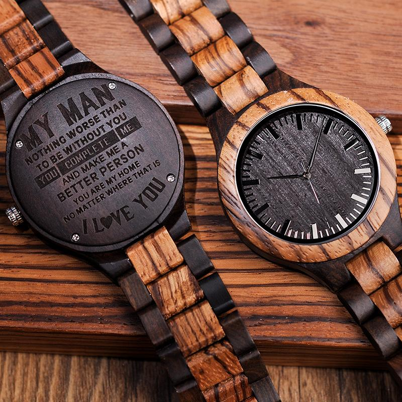BOBO BIRD Personalized Wood Watch Engraved Gift For DAD MOM Daughter Son Family With Customized Gift Box Wrist Watches Buy Online Unique Watches From Duoyun ...