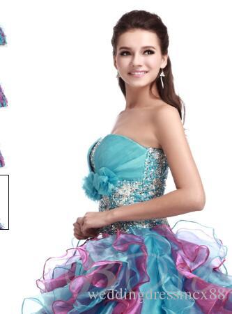 Ball Gown Flowers Strapless Floor-Length Quinceanera Dress