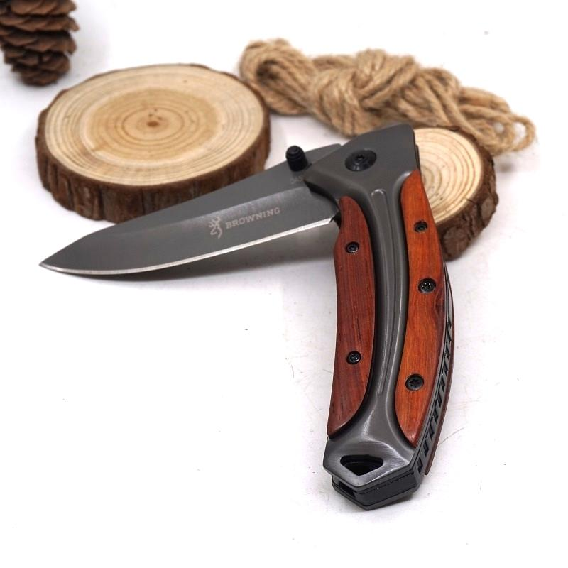 Pocket Hunting Knife 3Cr13 Blade Steel+Wood Handle Utility Knife Folding Tactical Survival Knives Outdoor Camping EDC Multitool