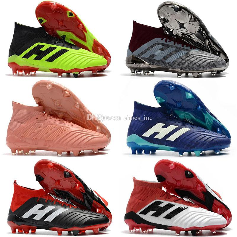 ca00a31dda5c 2019 Original Predator 18.1 Mens FG Football Boots 2018 Techfit Laceless  High Ankle Soccer Cleats Cheap Soccer Shoes New From Shoes inc