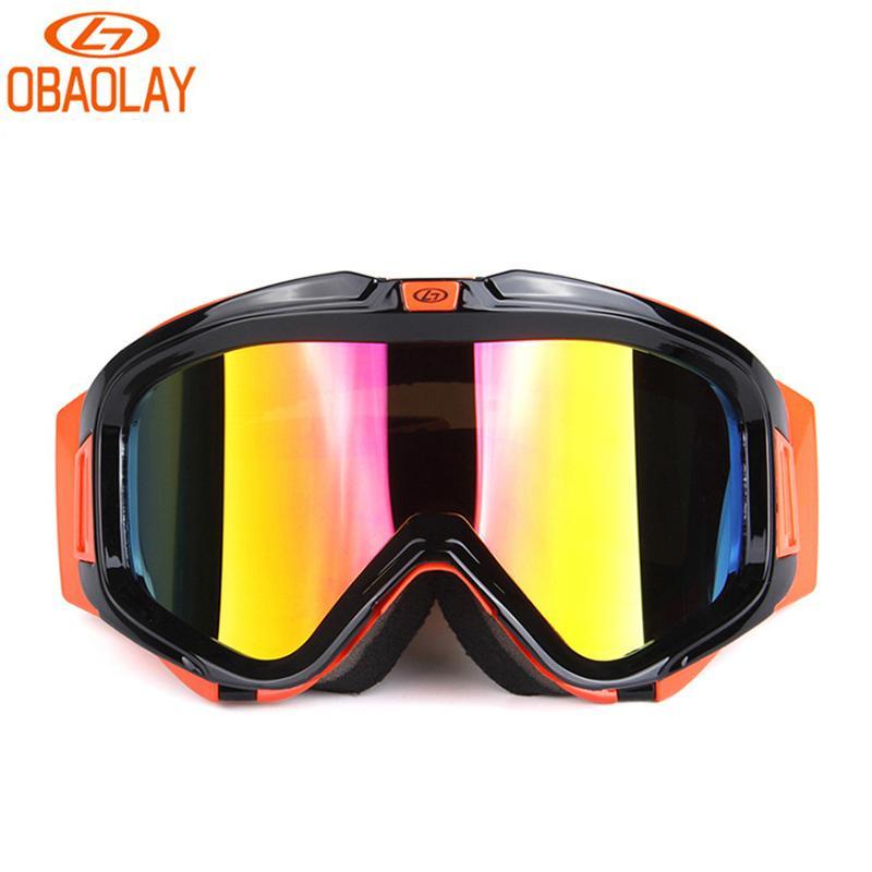 d42faac70b06 2019 Obaolay Ski Glasses Snowboard Mask Winter Snowmobile Motocross  Sunglasses Windproof Goggles UV Protection Winter Sport Glasses From  Kupaoliu
