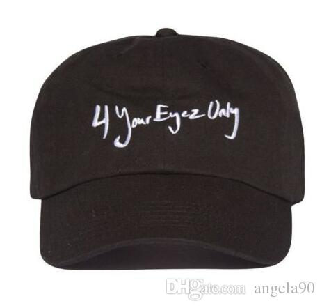 fca1fd892be8a NEW J Cole 4 Your Eyez Only Dreamville Tour Strapback Black Cap Dad Hat  Caps Hats Fitted Cap From Angela90
