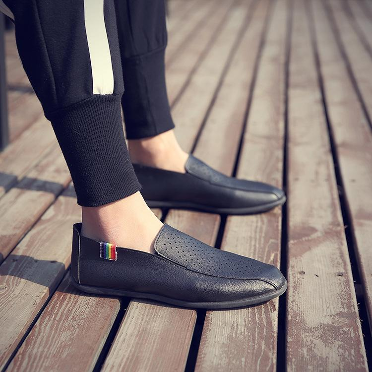 Peas Leather Shoes Lazy Shoes Men s Shoes Breathed in Summer SHOES Online  with  10.15 Piece on Lili860809 s Store  2242155d1446