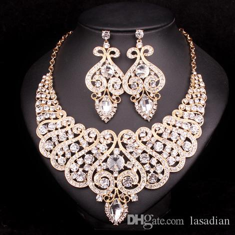 2019 Fashion Indian Bridal Jewelry Sets Wedding Necklace Earring
