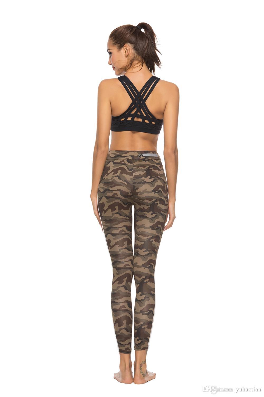 4d717a5ea6 2019 2018 Summer Women Long Pants Camouflage Print Bottoming Sport Pants  Yoga Pants