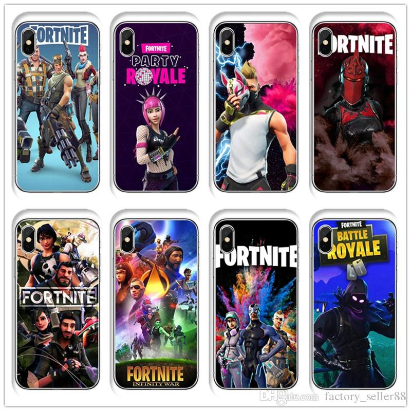 Fortnite Phone Cases For Iphone XS Max XR Case Cartoon