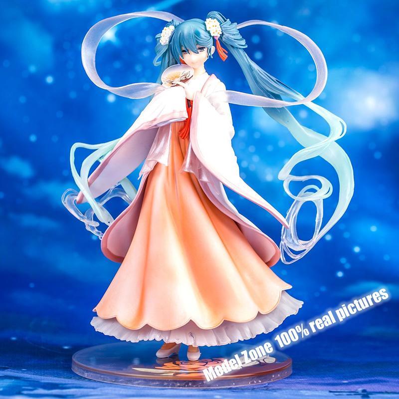 Grosshandel Japanischer Anime Hatsune Miku Harvest Moon Ver 1 8 Pvc Action Figure Sammlung Modell Spielzeug Brinqueods Geschenk Fur Freunde Mit Box Von