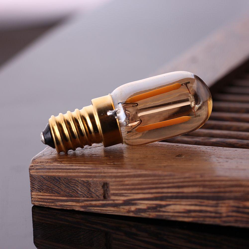 T22 Tubular Edison LED filamento noche bombilla 1W 2200K E12 E14 Base 110V 220VAC iluminación pendiente decorativa regulable