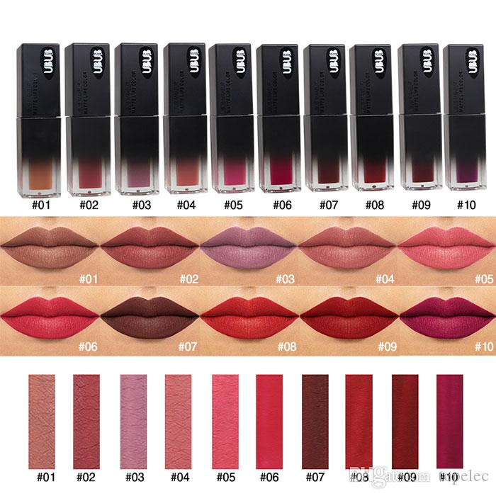 New Arrival UBUB Sexy Waterproof Liquid Lip Gloss 10Color Matte Lipstick Matte Cosmetic Long Lasting Pigment Brand New Makeup for Girls