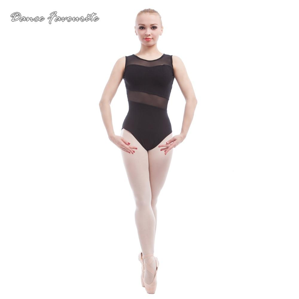 3f10248d4 New Ballet Leotards For Women Tank Sleeve Cotton with Mesh Ballet ...