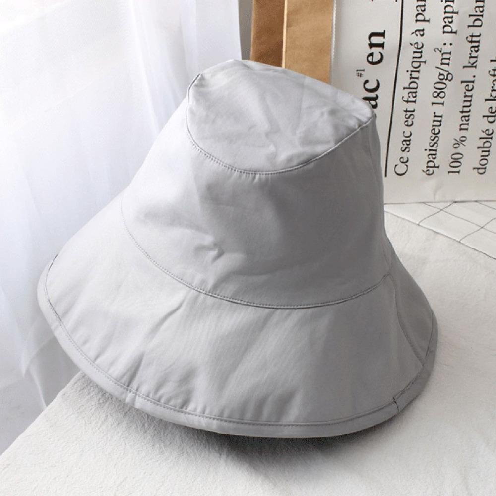 Compre Moda Coreana Primavera Verano Mujeres Cubo Sombrero Gorras Cómodo Color  Sólido Señora Pescador Algodón Sombreros De Protección Solar es 2018 A   46.6 ... 46761dc5402