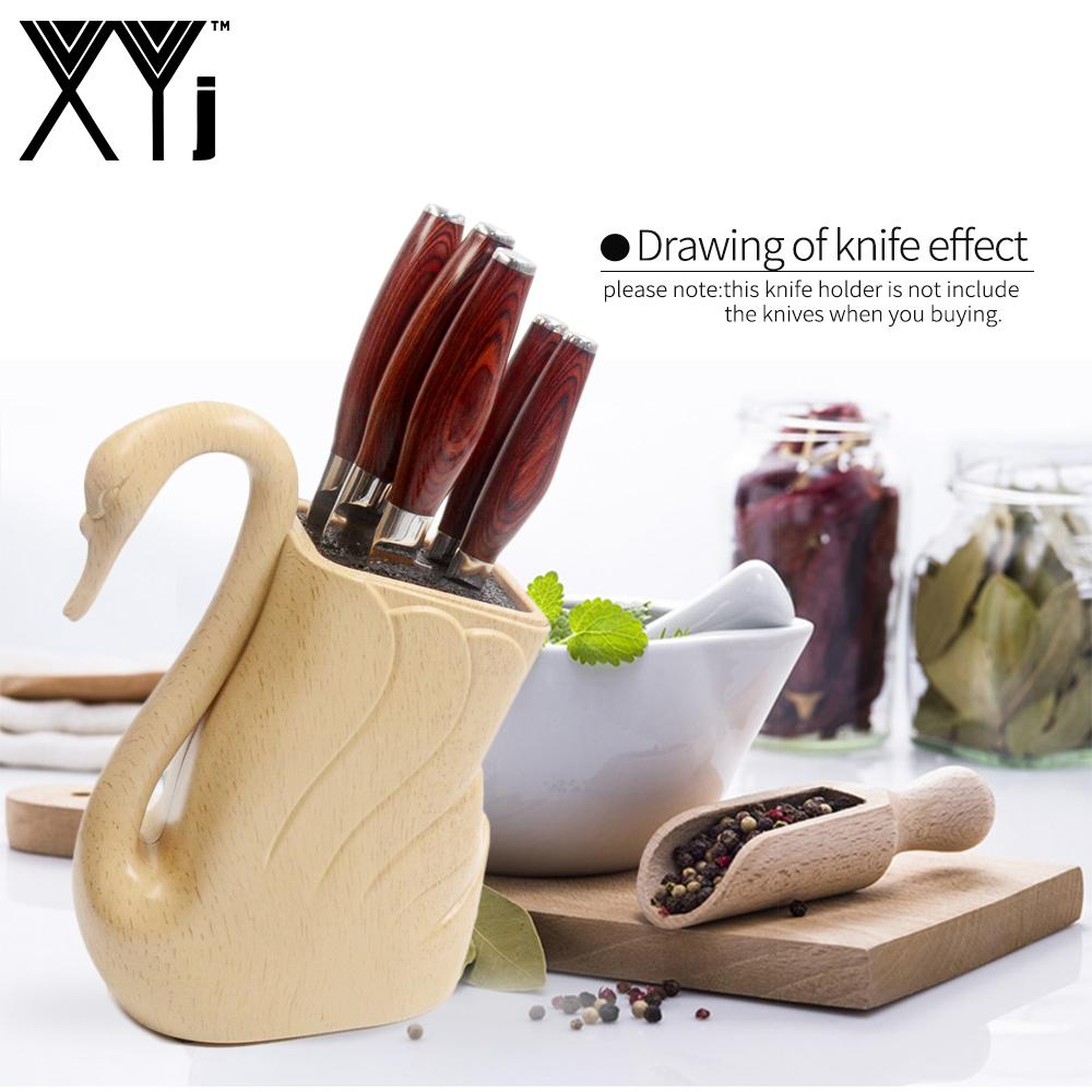 2019 XYj Ceramic Damascus Stainless Steel Kitchen Knife Stand Block Tools  Holder Goose Shape Plastic Universal Cooking Knife Holder From Fengjibiao,  ...