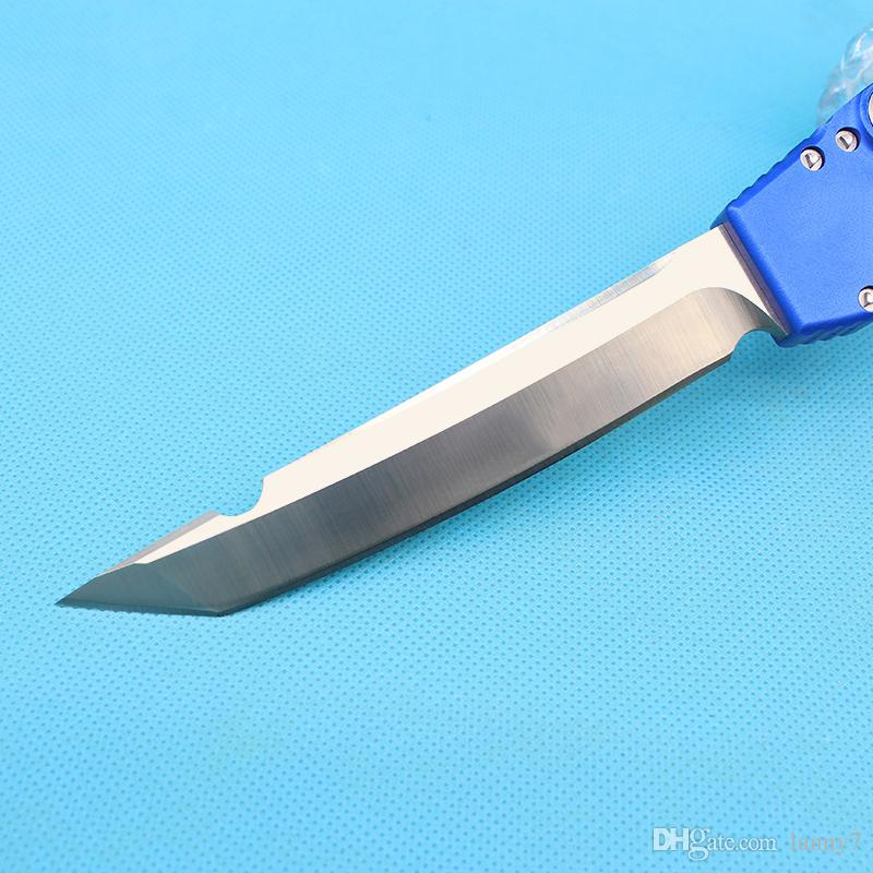 "New arrival Blue Halo V Tanto Satin Blade Knife 4.6"" Satin 150-4 Single Action Auto Tactical knife knives with kydex"