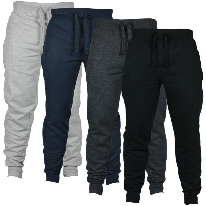 d12921d3b9b 2019 2018 Men Sweatpants Fitness Jogger Pants Autumn Winter Bodybuilding  Gyms Pants Male Hip Hop Workout Long Trousers Sportswear Y1892811 From  Tao01