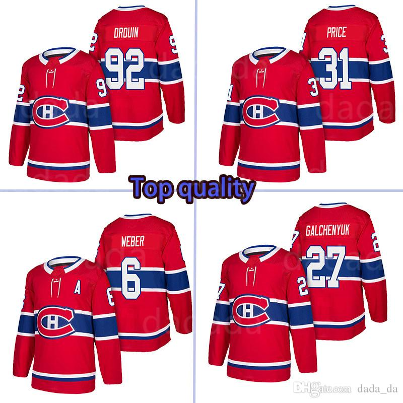 40209d51 2018-2019 Montreal Canadiens Jersey 31 Carey Price 6 Shea Weber 27 ...