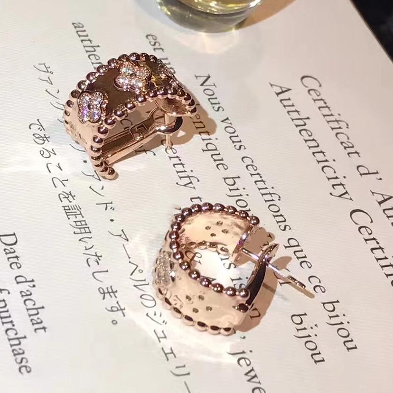 c14e32055ee1 Compre Marca Moda Pure 925 Joyas De Plata Para Las Mujeres Gran Cilindro  Pendientes De Trébol Pendientes De Boda Del Pendiente Del Color Oro A   38.29 Del ...