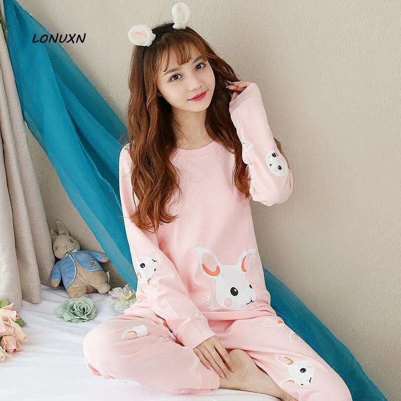 68abaed69282 2019 Autumn Winter Girls Cute Pajamas