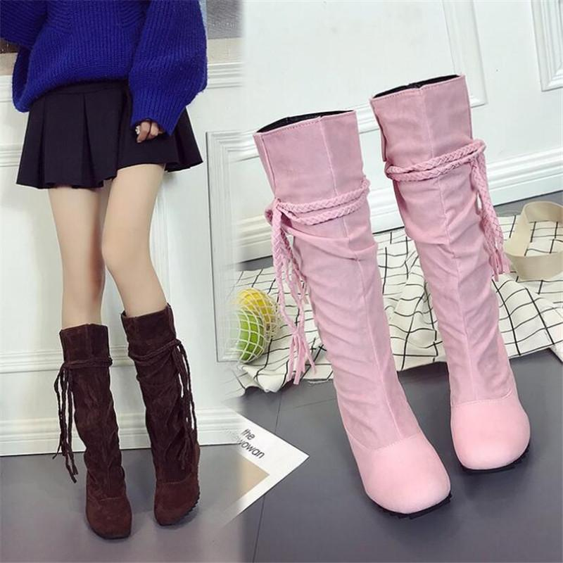 Women Girls Fashion Shoes Autumn Winter Boots Ladies Sexy Sweet Outdoor Boot  Stylish Flat Flock Shoes Snow Boots Botas Planas Fashion Shoes Winter Shoes  ... f6041b74cd4f