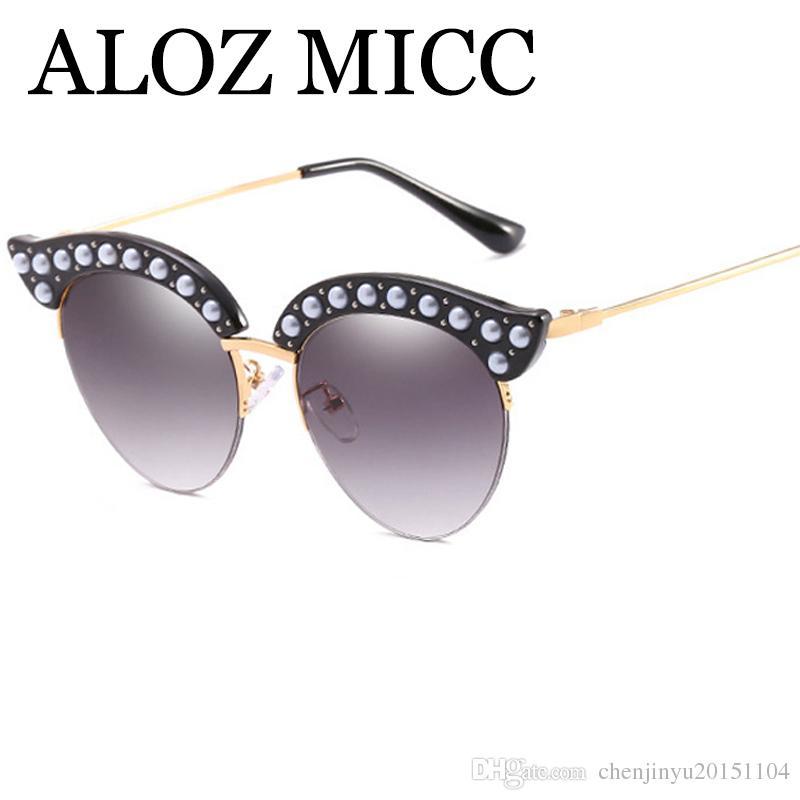 Aloz Micc Brand Designer Cat Eye Sunglasses Women New Luxury ...