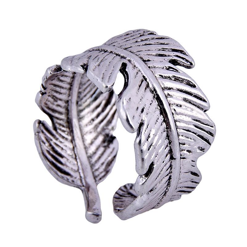 Antique Silver Color Leaf Snake Alien Rings Women Men Steampunk Biker Rings  Vintage Punk Ring Jewelry Gifts Wholesale