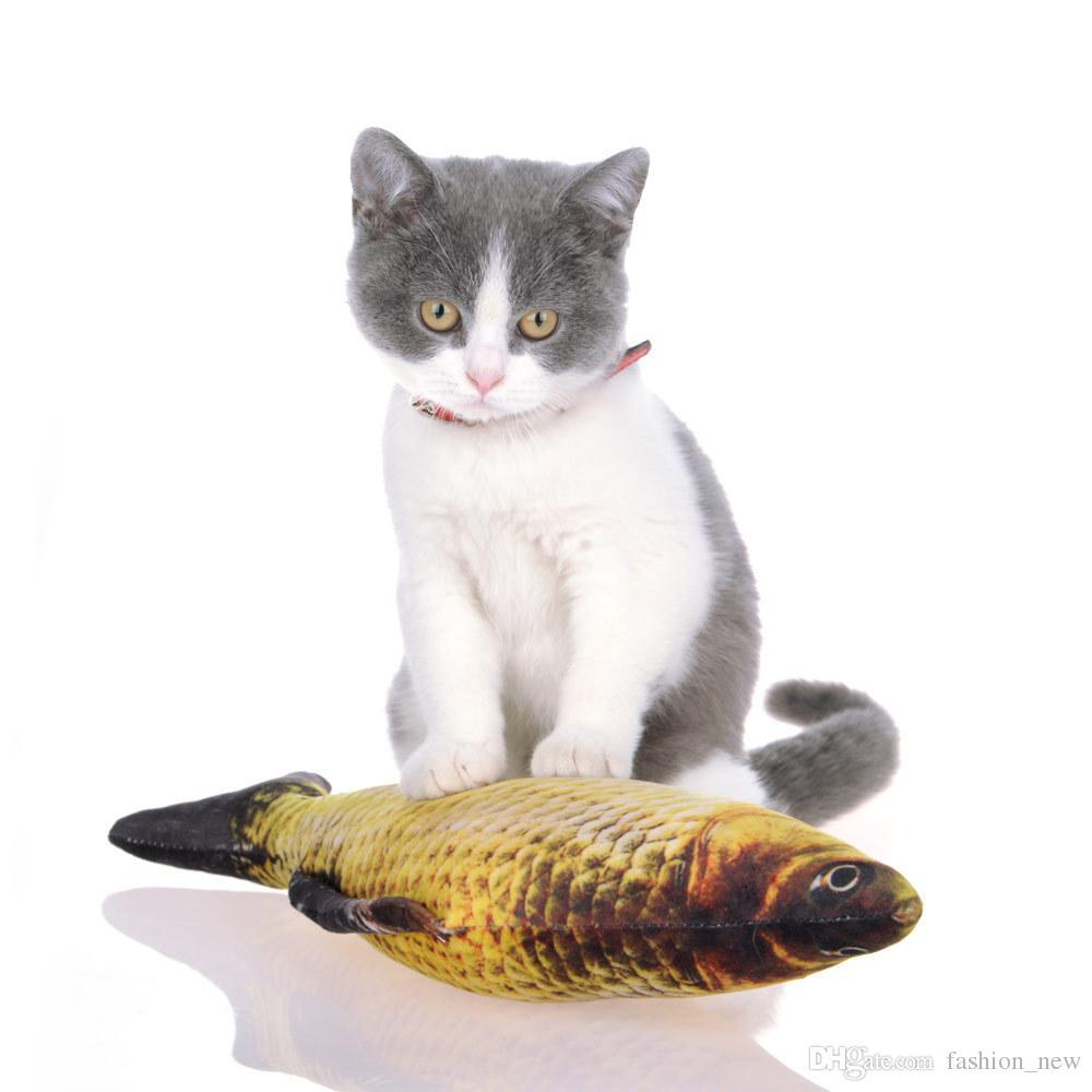 20 سنتيمتر حجم الأسماك القطيفة pet القط جرو الكلب الاصطناعي لعب النوم لعبة القط النعناع البري النعناع البري اللعب لطيف خزان ماء الديكور 7 أنماط