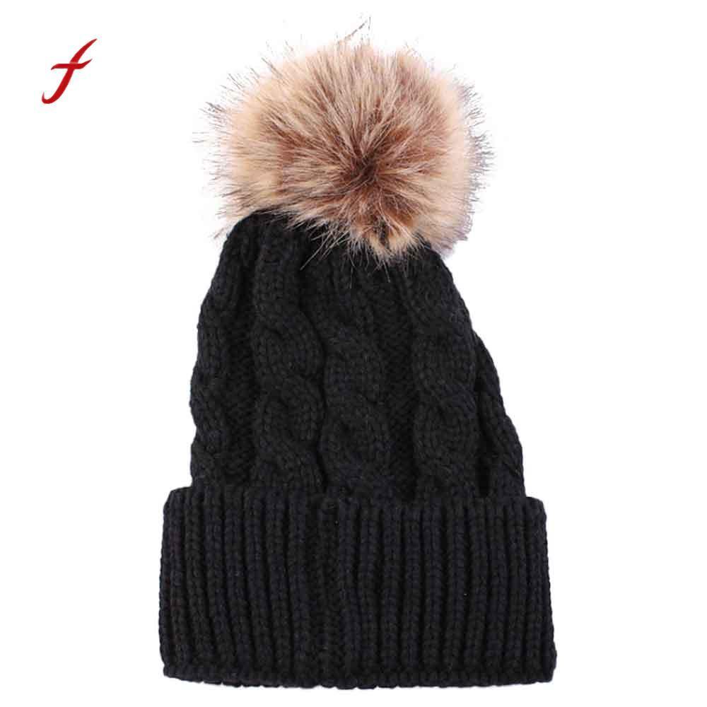 2018 New Fashion Women Winter Hat Cap Cotton Warm Hat Fashion Keep Warm  Winter Hats Knitted Wool Hemming Black Beanie Crochet Beanie From  Pulchritudinous 3424138f4ab6