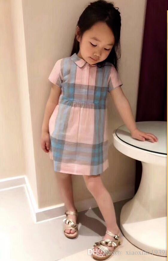 53c120c2e 2019 Kids Girls 2018 Summer Check Gingham Princess Girls Dress Party  Pageant Dresses Baby Girls Lovely Clothes From Xiaoxiao1939, $27.54 |  DHgate.Com