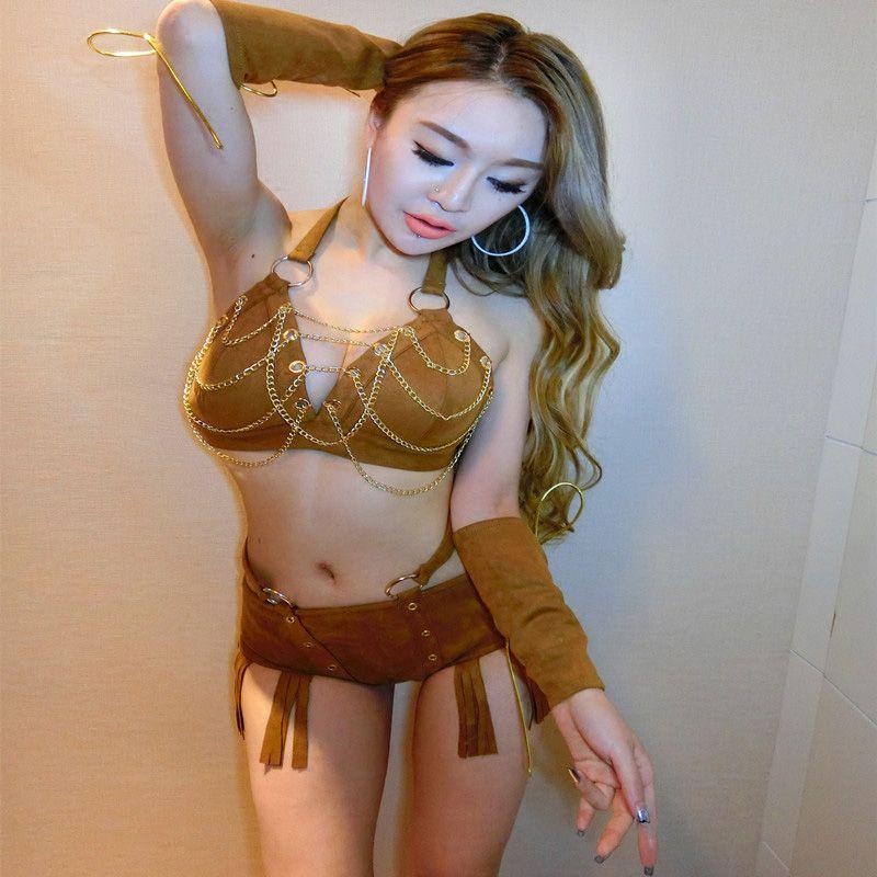 Compre DJGRSTER Nueva Sexy Mujeres Etapa Outfit Clothes Cantante Femenina Traje  De Hip Hop Jazz Night Club DS Dance Stage Trajes Conjunto A  44.83 Del ... d1372cae08b