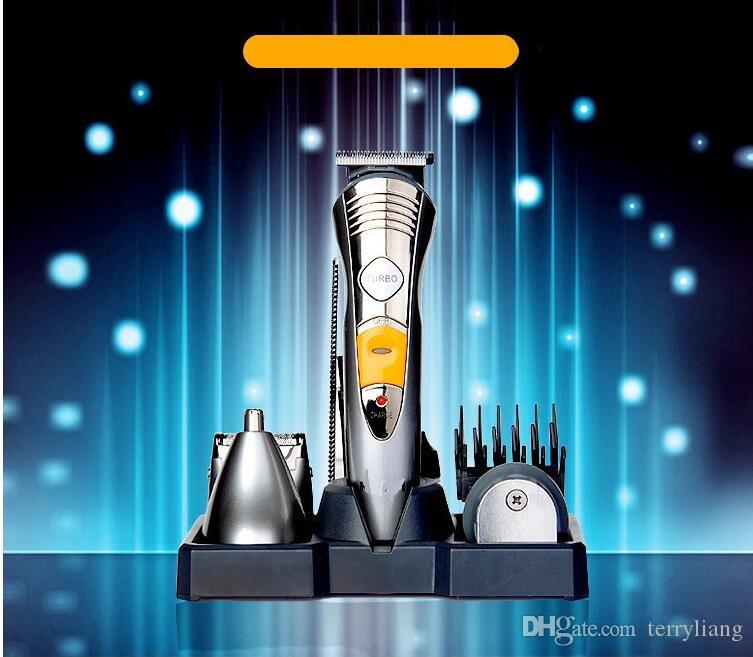 7 in 1 professionale dei capelli elettrici Multinational corpo del tagliatore rasoio rasoio uomo governare kit ricaricabile Barba di taglio dei capelli macchina Trimmer
