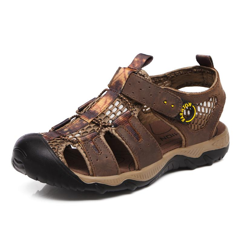 eca10d1e6a78 Nice Genuine Leather Men Sandals Summer Leather Sandals Men High Quality  Birkenstock Sandals Shoes For Women From Drdre