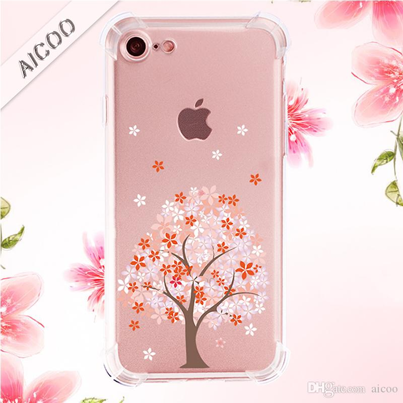 meet 0de8f 8f84a Armor Draw paint Transparent Soft TPU Case Four Angel Protection Cover for  iPhone 8 7 Plus X XS MAX XR Samsung Note9 S9 S8Plus Aicoo