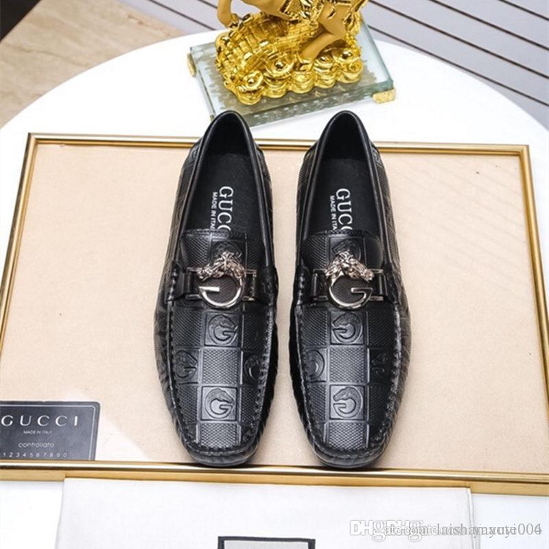2984b196e30 Acheter 2019 Cuir Chaussures Hommes Marque De Luxe Batsness Appartements  Brillant Robe Mâle Chaussures Travail Bureau Designer Oxford Chaussures  Pour Hommes ...