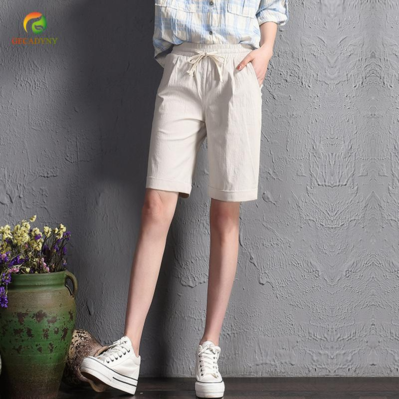 a0ca98f0eca 2019 2018 Summer Girls New Casual Solid Shorts Loose Shorts Wide Leg Shorts  Women Cotton And Linen Plus Size S 3XL S916 From Ruiqi01