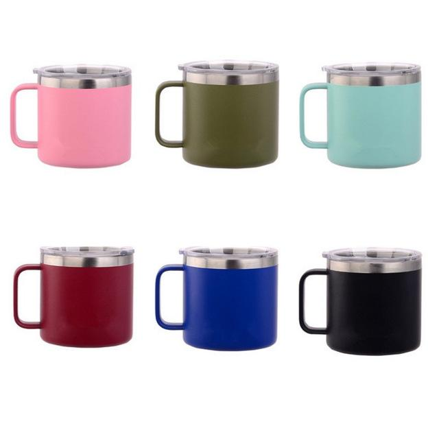 Kids 14oz Travel Coffee Flask Milk Cup Steel Thermos Thermal Thermo Stainless Vacuum Cups Mug XiTkuZlwOP