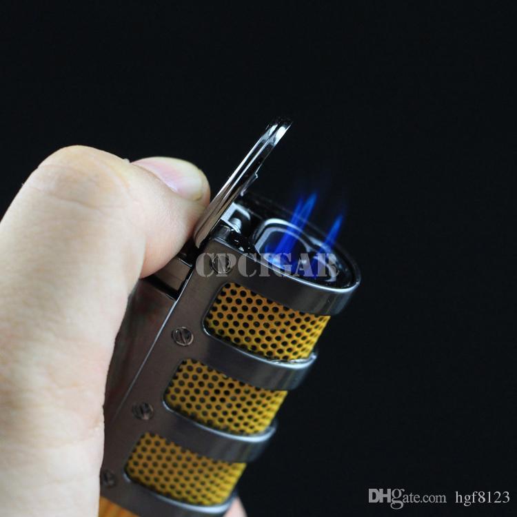 COHIBA haut de gamme réseau Armor cigare fumant Ligther w / intégré cigare punch flamme 3 torche allume-cigare w / boîte-cadeau