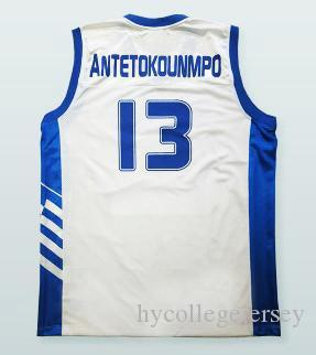 69b50dcda2f 2019  13 Giannis Antetokounmpo Hellas Eurobank Greece Jerseys Sewn Any Name  Mens White Stitched Basketball Jerseys From Hycollegejersey