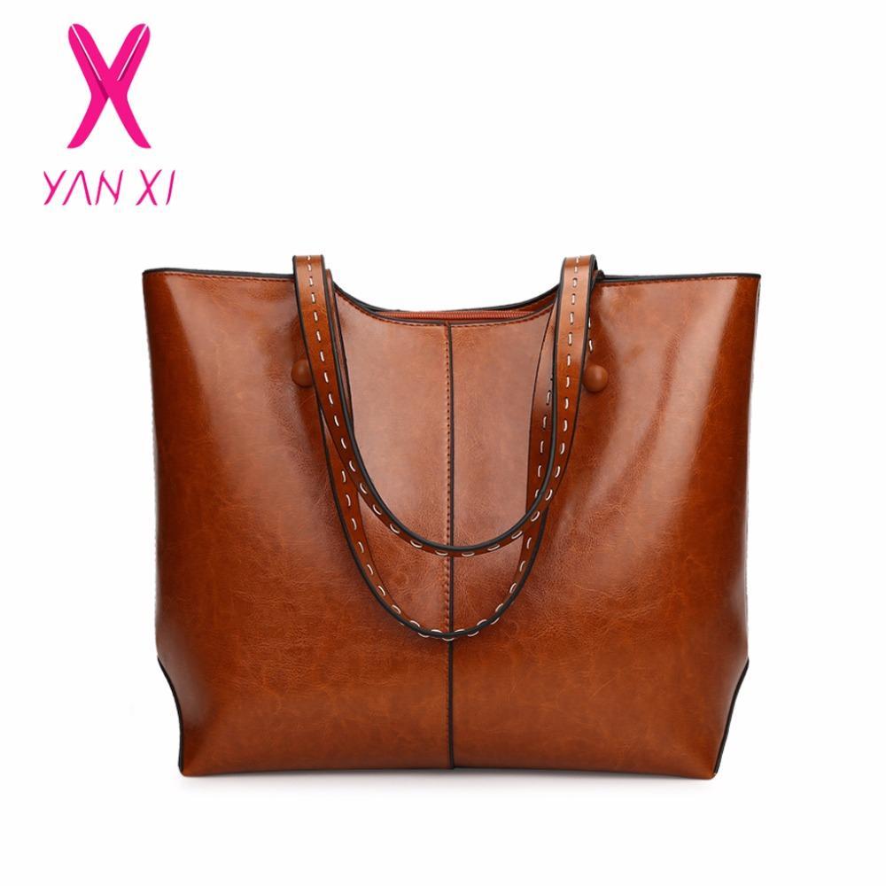 Compre Yanxi Grandes Bolsas Cuero De Bolsos Alta Calidad Mujer 7afw7qUZWd
